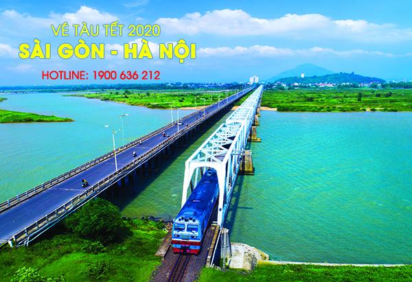 Vé tàu tết Canh Tý 2020 Sài Gòn Hà Nội